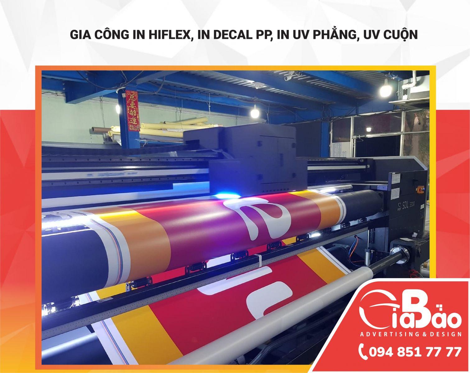 In Hiflex, in Decal PP, in UV Phẳng, in UV cuộn uy tín, chất lượng tại Đăk Lăk - Đăk Nông