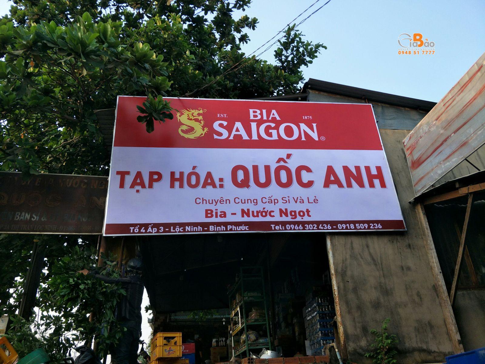 THI CÔNG BẢNG HIỆU LOGO BIA SÀI GÒN